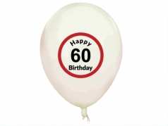 "Balionai ""Happy Birthday 60"", 5 vnt"