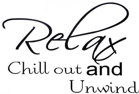 "Lipdukas sienų dekoravimui ""Relax Chill Out and Unwind"", 60 x 40 cm"