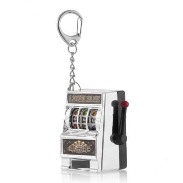 Dekoratyvinio lošimo automato rakto pakabukas