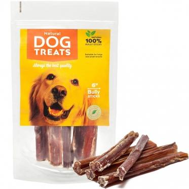 """Džiovintų jaučių penių lazdelės """"Natural Dog Treats"""", 5 vnt"""