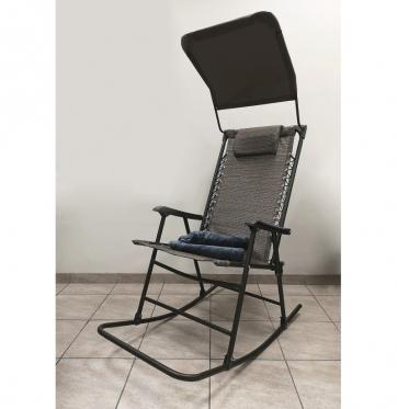Siūbuojanti kėdė su stogeliu ir pledu, 112 x 40 x 67 cm