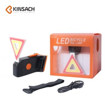 """USB LED galinis žibintas dviračiui """"Kinsach"""""""
