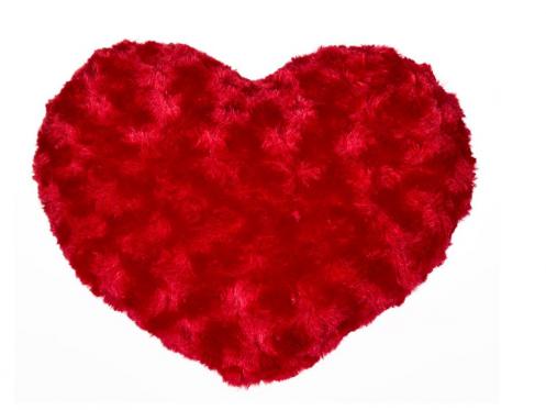 """Pagalvė """"Širdelė"""", 25 x 19 x 9 cm"""