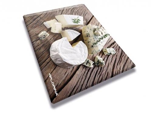 """Stiklinė pjaustymo lentelė """"Sūris"""", 30 x 40 x 0,4 cm"""