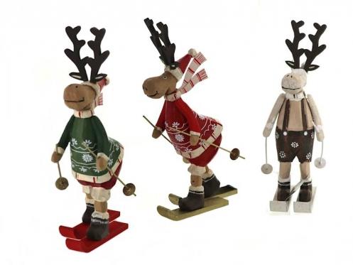 """Dekoratyvinė figūrėlė """"Kalėdinis elnias"""", 22 x 13 cm"""