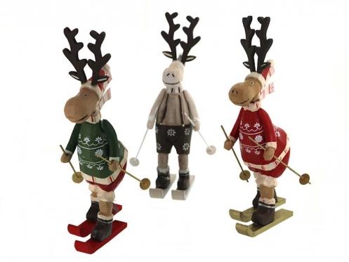 """Dekoratyvinė figūrėlė """"Kalėdinis elnias"""", 26 x 12 cm"""
