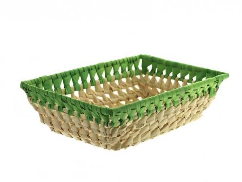 """Krepšelis """"Palmės lapas"""" (ruda, žalia)"""