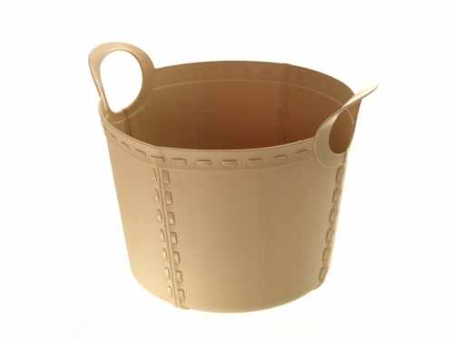 Plastikinis kibiras su rankenomis, 15 l (šviesiai ruda)