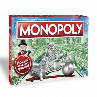 """""""Hasbro"""" stalo žaidimas """"Monopolis"""", (rusų kalba)"""