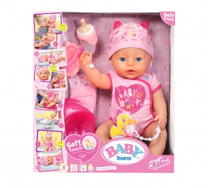 """Zapf Creation"" interaktyvi lėlė ""Baby Born soft touch"", 43 cm (rožinė)"