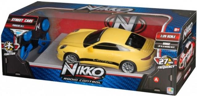 """Nuotolinio valdymo mašinėlė """"Nikko Porche 911 Carrera 4S"""""""