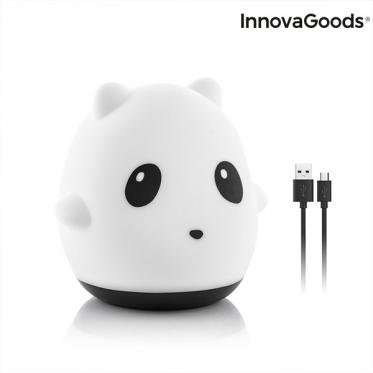 """""""InnovaGoods"""" pakraunamas silikoninis naktinis šviestuvas """"Panda"""", 800 mAh"""