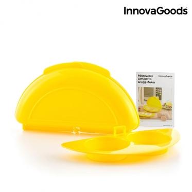 """Du viename, forma omletui ir kiaušiniams gaminti mikrobangų krosnelėje """"InnovaGoods"""""""