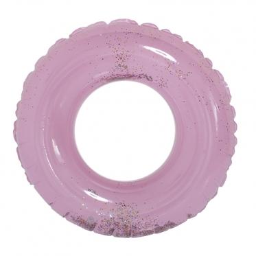 Pripučiamas vandens ratas su blizgučiais, Ø 90 cm (violetinis)