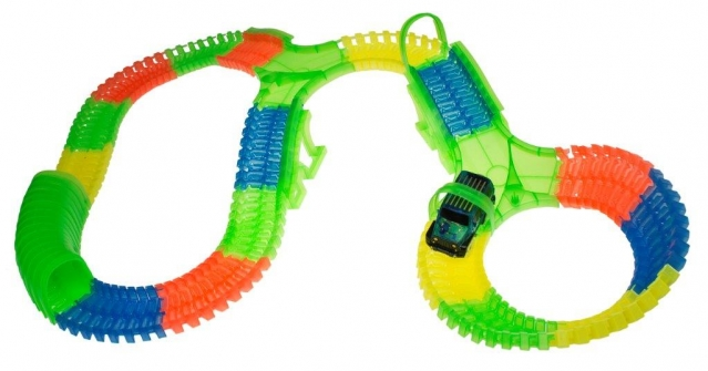 """""""72 toys"""" lenktynių trasa su mašinėle"""