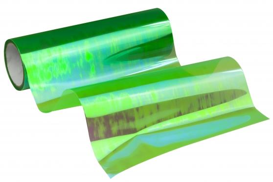 Automobilio žibintų plėvelė, 0,3 x 8,5 m (žalia chameleonas)