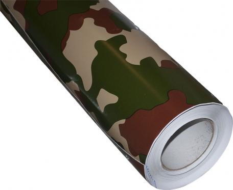 Lygaus matinio paviršiaus termoplastinė plėvelė automobilio kėbului, 1,52 x 0,1 m (standartinis kamufliažas)