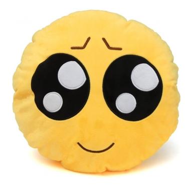 """Pagalvė """"Emoji graudžios akys"""", Ø 30 cm"""