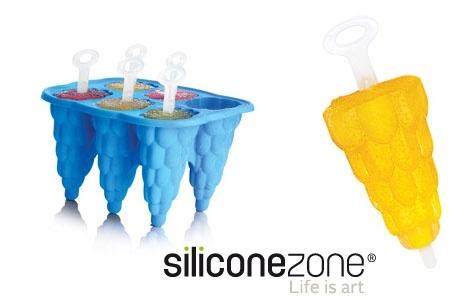"""Silikoninės formelės ledams """"SiliconeZone"""". Net šeši skirtingi skoniai!"""