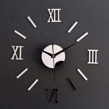 Romėniškų skaitmenų sieninis laikrodis, Ø 70 - 130 cm