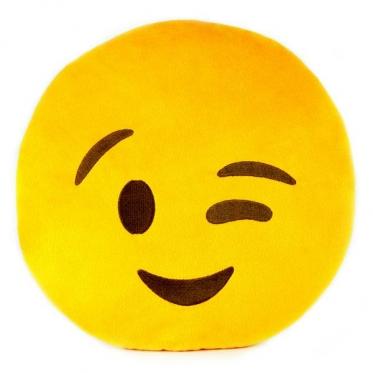 """Pagalvė """"Emoji mirktelėjimas"""", Ø 30 cm"""