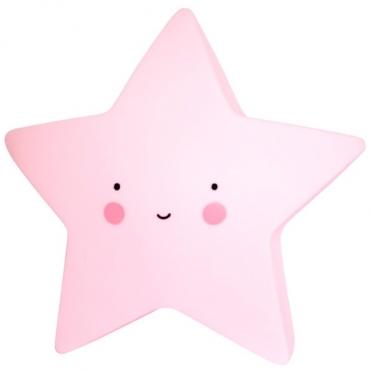 """Dekoratyvinė naktinė lempa """"Žvaigždutė"""" (rožinė)"""