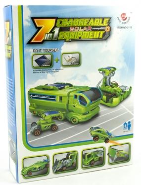 """Konstruktorius su saulės baterija """"Transporto priemonės"""""""
