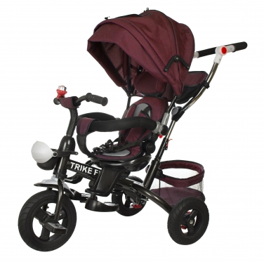 """Daugiafunkcinis triratis vežimėlis - dviratis """"Trike Fix SE"""" (violetinis)"""