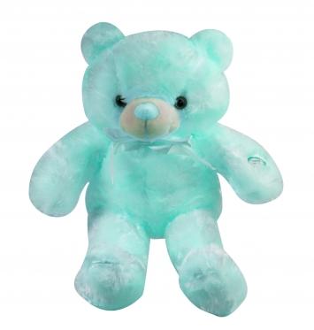 """LED naktinė lempa - pliušinis žaislas """"Meškiukas"""", 45 cm (mėlynas)"""