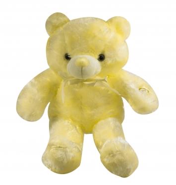 """LED naktinė lempa - pliušinis žaislas """"Meškiukas"""", 45 cm (geltonas)"""