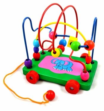 """Edukacinis žaislas su ratukais ir virvele """"Labirintas"""", 17 x 11 x 16 cm"""