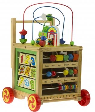 Šeši viename, edukacinis žaislas - vaikštynė, 29,5 x 27,7 x 32,5 cm