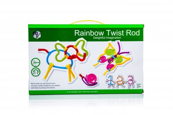 "Edukacinis žaidimas ""Rainbow Twist Rod"""