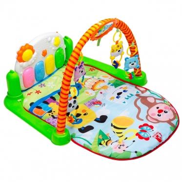 """Kūdikio žaidimų kilimėlis """"Beždžionėlė"""" su pianinu"""