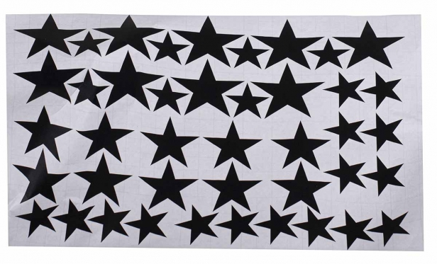 """Sienos lipdukų rinkinys """"Žvaigždės"""", 42 vnt"""