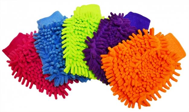 Mikropluošto šluostė-pirštinė