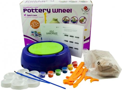 Mokomosios keramikos ratas vaikams + dažai