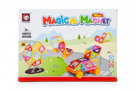 "Spalvoti magnetiniai blokai ""Magical Magnet Mini"", 68 vnt."
