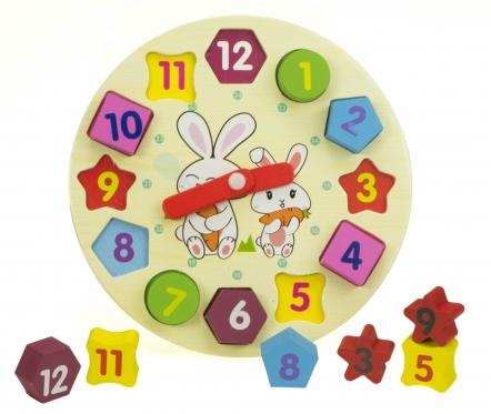Medinis mokomasis laikrodis, 18,5 cm