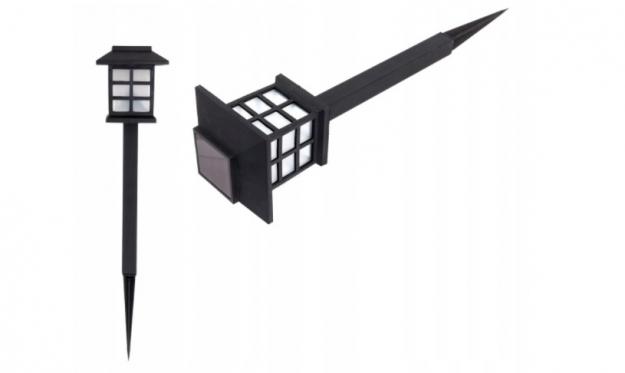 LED lauko žibintas su saulės baterija, 38 cm