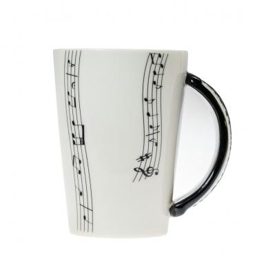 Puodelis su klavišinių formos rankena, 250 ml
