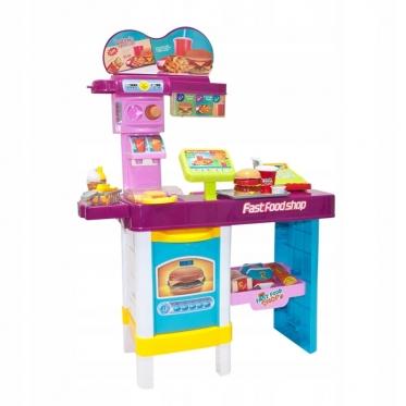 """Žaislų rinkinys """"Greito maisto prekystalis"""""""