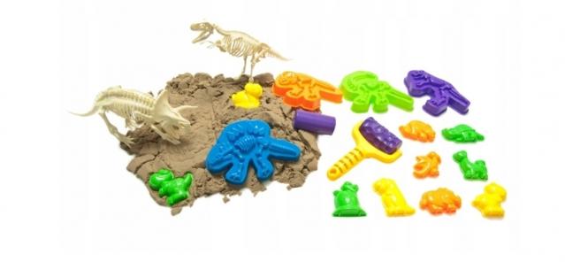 """Žaislų rinkinys su kinetiniu smėliu """"Dinozaurai"""""""
