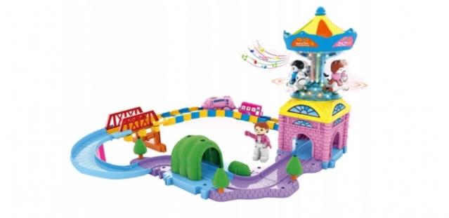 """Žaislų rinkinys """"Traukinukas ir karuselė"""""""