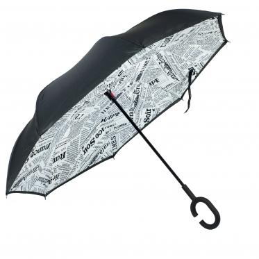 """Atvirkščiai sulankstomas skėtis """"Laikraštis"""""""