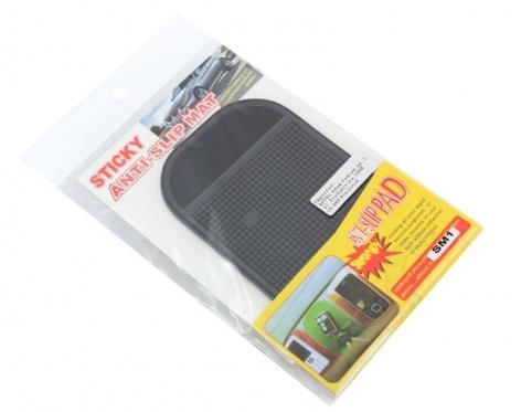 """Neslystantis automobilio prietaisų skydelio kilimėlis """"Anti-slip pad"""", 8,5 x 14 cm"""