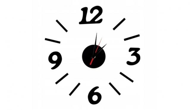 Keturių skaitmenų sieninis laikrodis, Ø 15 - 60 cm (juodas)