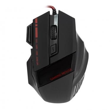"""Optinė kompiuterio pelė """"Gamer"""" (juoda, raudona)"""
