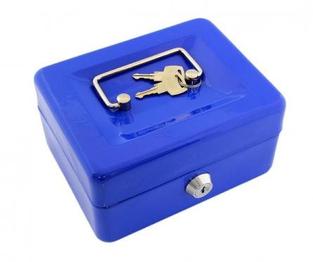 Pinigų dėžutė, 15,2 x 11,5 x 8 cm (mėlyna)