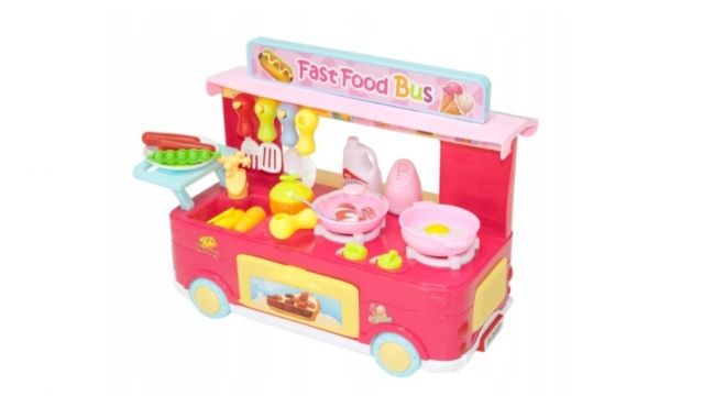 """Žaislų rinkinys """"Greito maisto autobusas"""""""